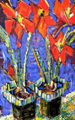 Red Amaryllis - 24x36