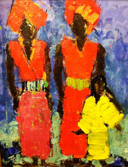 Two Women and Child - 36x48