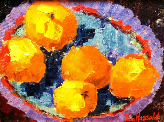Oranges in a Bowl - 8x10
