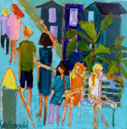 People Watching- 24x24