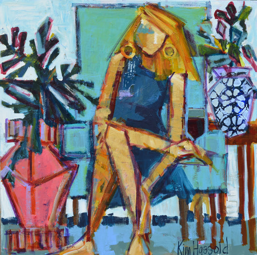 Waiting on Wine - 36x36