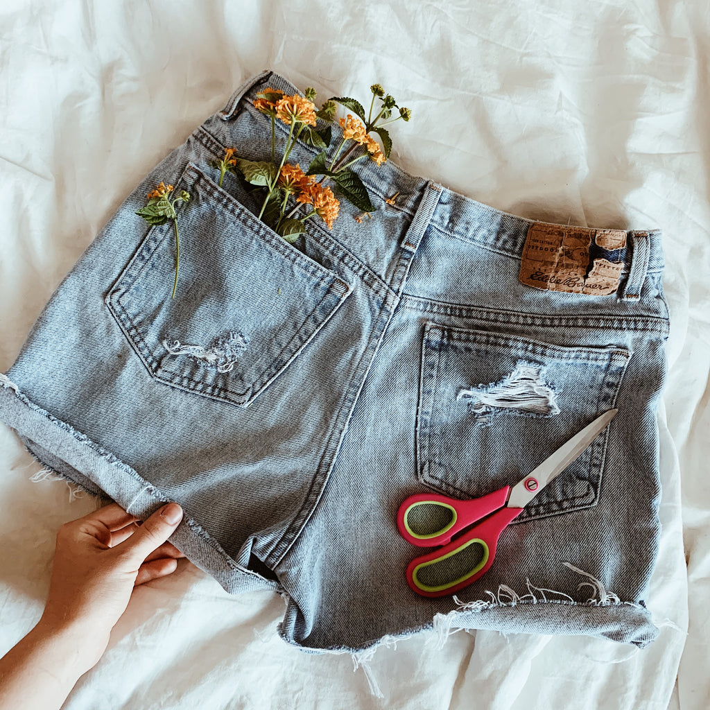 How to Cut & Distress Your Own Denim - At Home Workshop