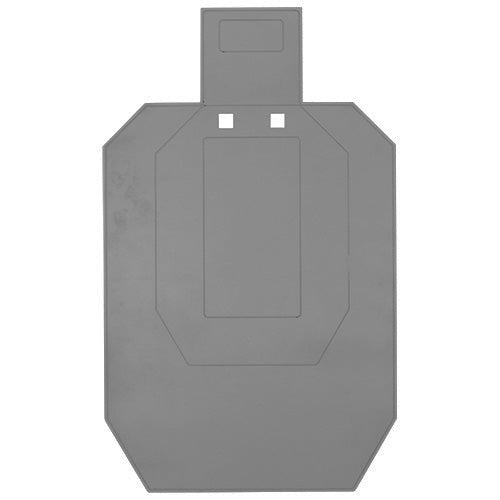 AR500 Targets - MK Machining - 50% IPSC Target with T post hanger. - a-j-sporting