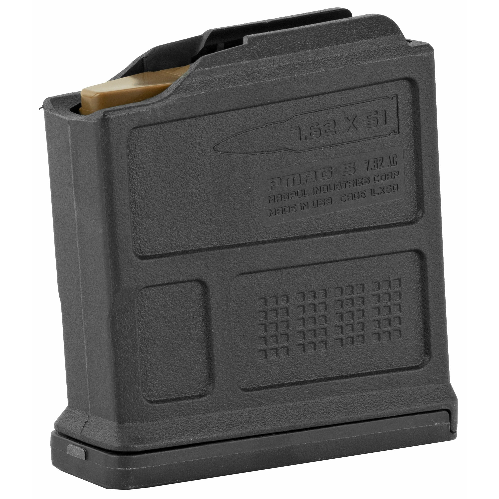 Magpul Industries, Magazine, PMAG, 308 Win/762NATO, 5Rd, Fits AICS Short Action, Black Finish