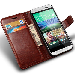 Case for HTC One M8 Leather Wallet