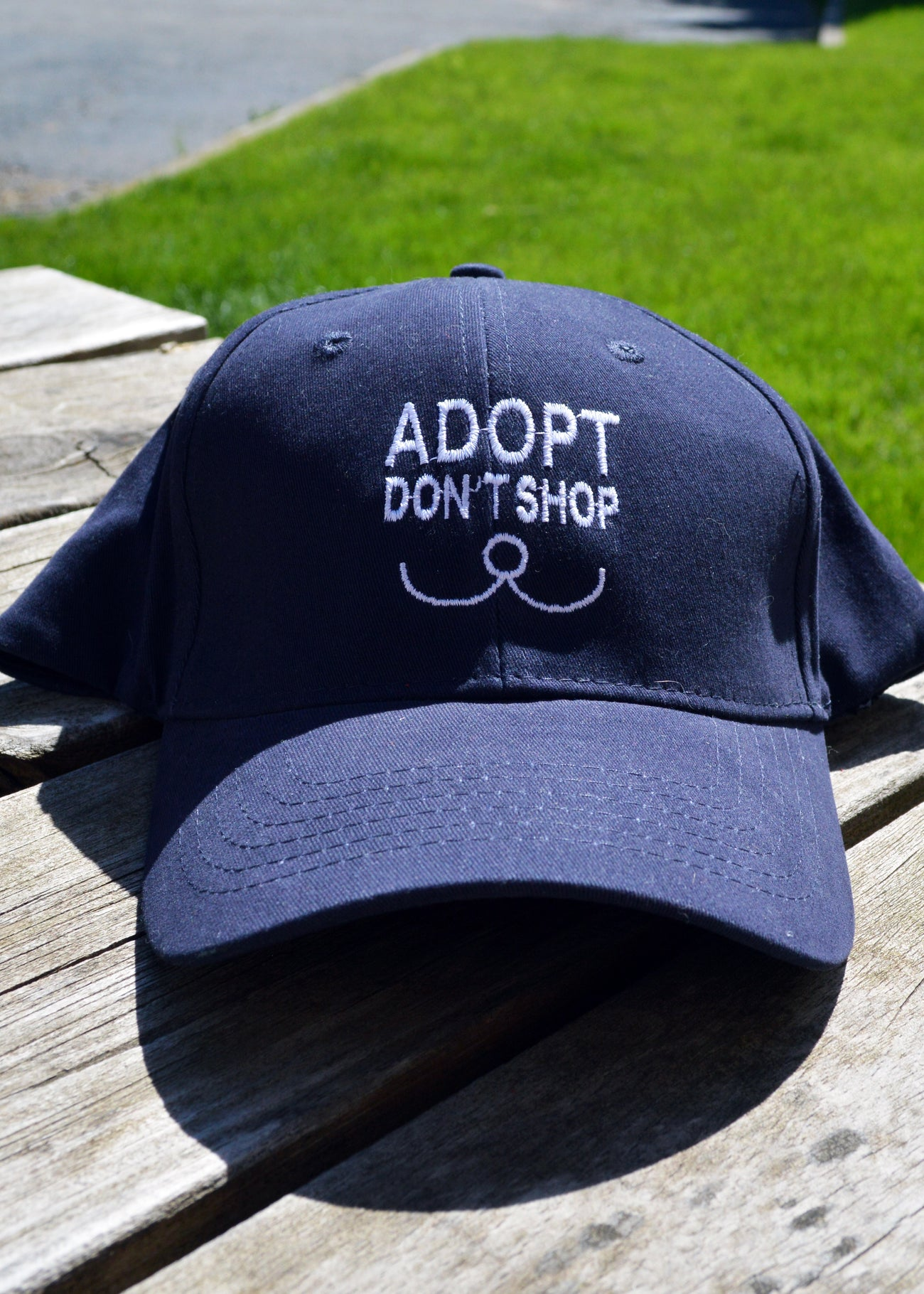 """Adopt Don't Shop"" Baseball Cap"