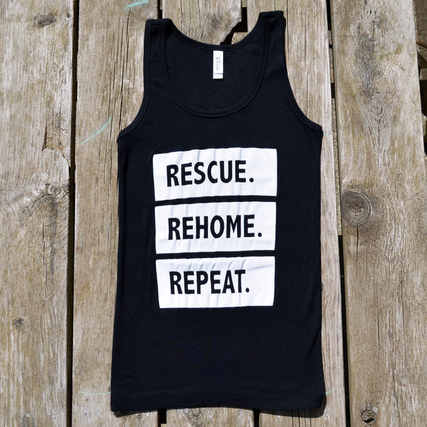 """Rescue Rehome Repeat"" Kids Tank Top"