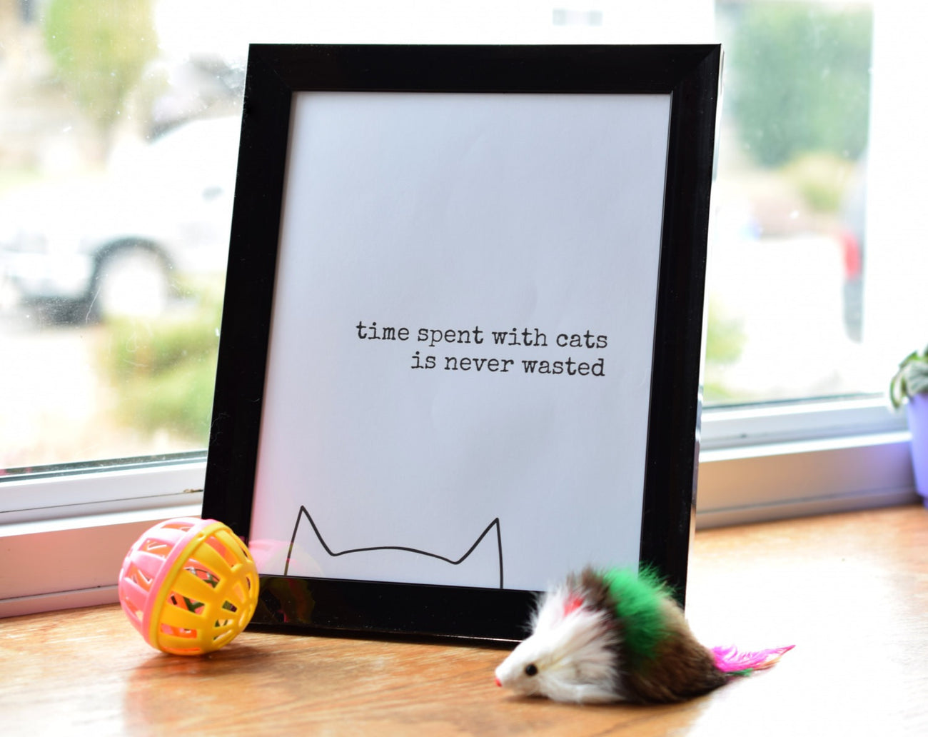 """Time Spent With Cats is Never Wasted"" Art Print"