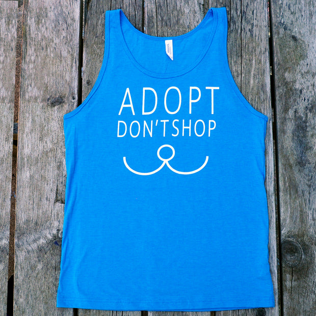 "Men's ""Adopt Don't Shop"" Tank Top"