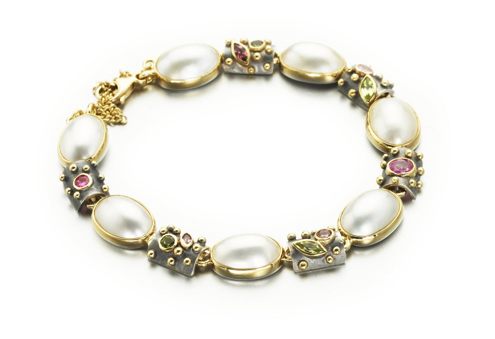 Bracelet mabe pearls