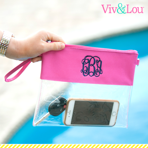 personalized clear stadium purse