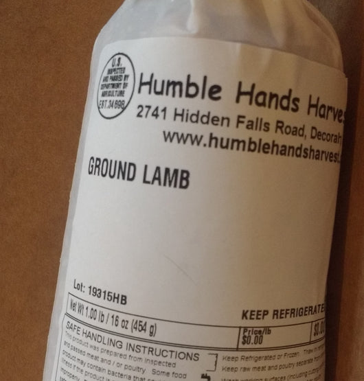 HHHM Ground Lamb, 1 lb.