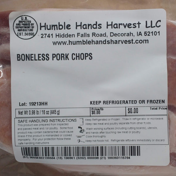 HHHM Pork Chops, 2 pack