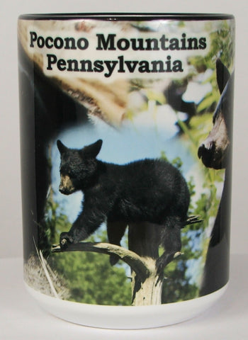 15oz Pocono Mountains Black Bear Mug