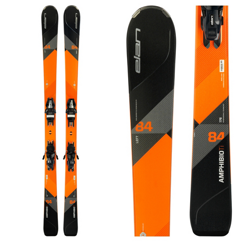 Elan Amphibio 84 Ti Skis with ELS 11.0 Bindings - 2018