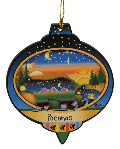 2 Bear Family Ornament