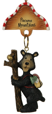 Hiking Bear Ornament