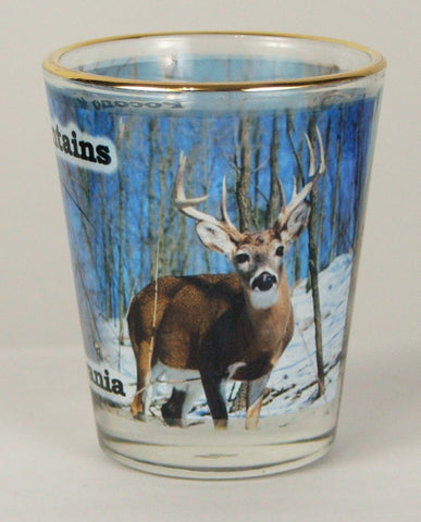 Pocono Mountain Deer Shot Glass