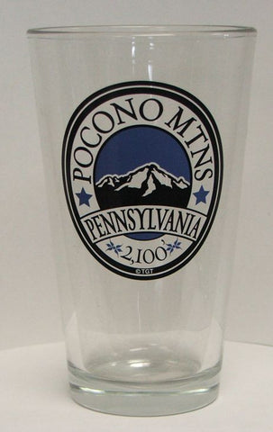 Pocono Mountain Pint Glass