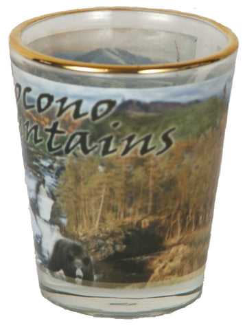 Pocono Mountain Shot Glass