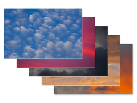 Clouds 5 x 7 Postcards - Set of Five
