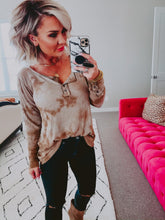 Tie dye for Daze Top - mocha