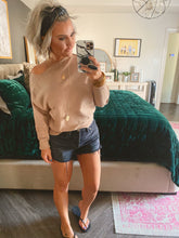 Sunday brunch asymmetrical sweater -taupe