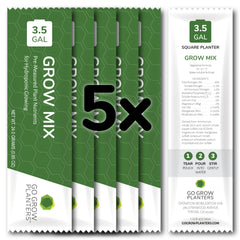 5x square planter nutrient packs