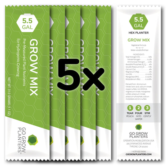 Hex Planter Grow Mix Nutrient Packs