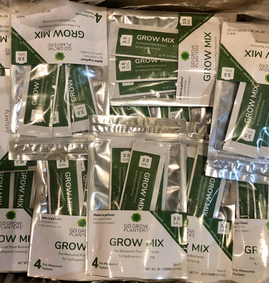 150  4-pack 3.5 gal Grow Mix Nutrients with Standard Shipping and Signature Required