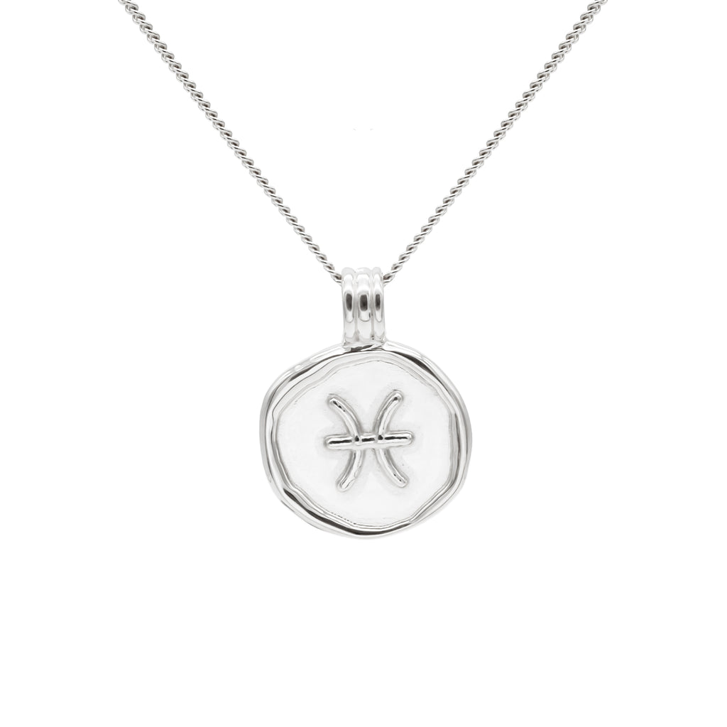 ZODIAC - Pisces Necklace Silver