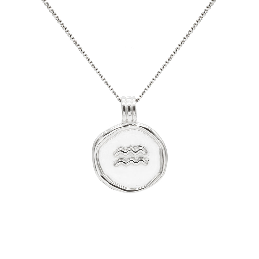 ZODIAC - Aquarius Necklace Silver
