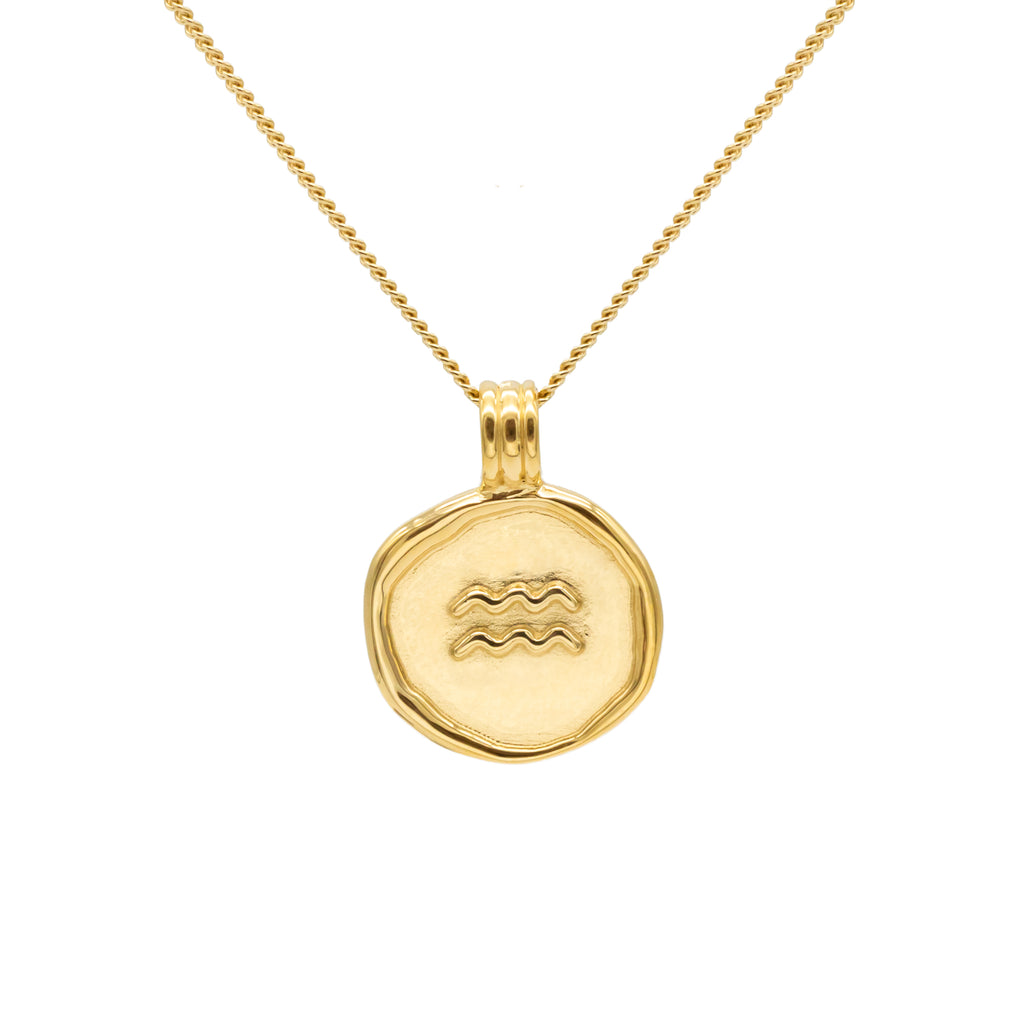 ZODIAC - Aquarius Necklace Gold