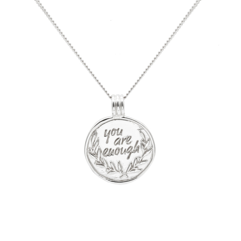 Pre-Order You Are Enough Necklace with Plants Silver