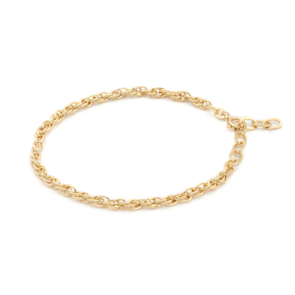 Thick Double Chain Bracelet Gold