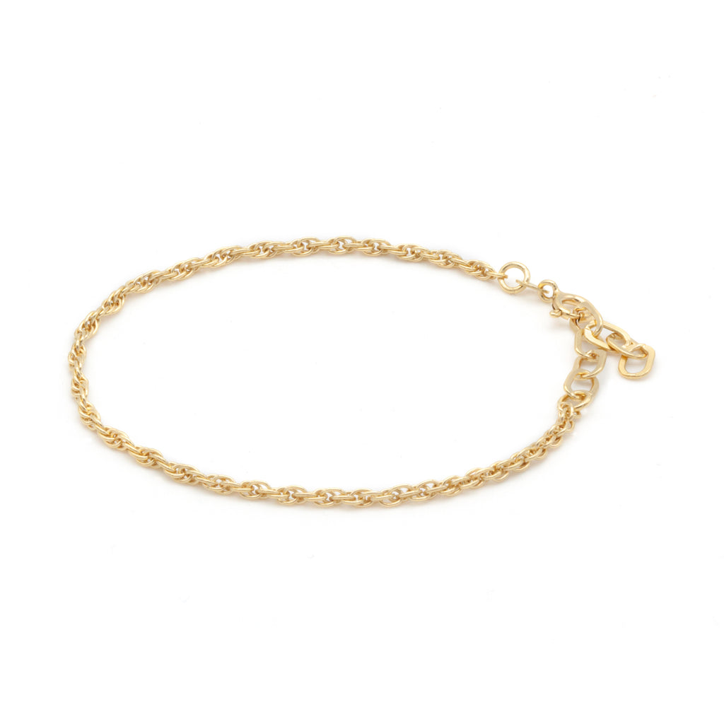 Thin Double Chain Bracelet Gold