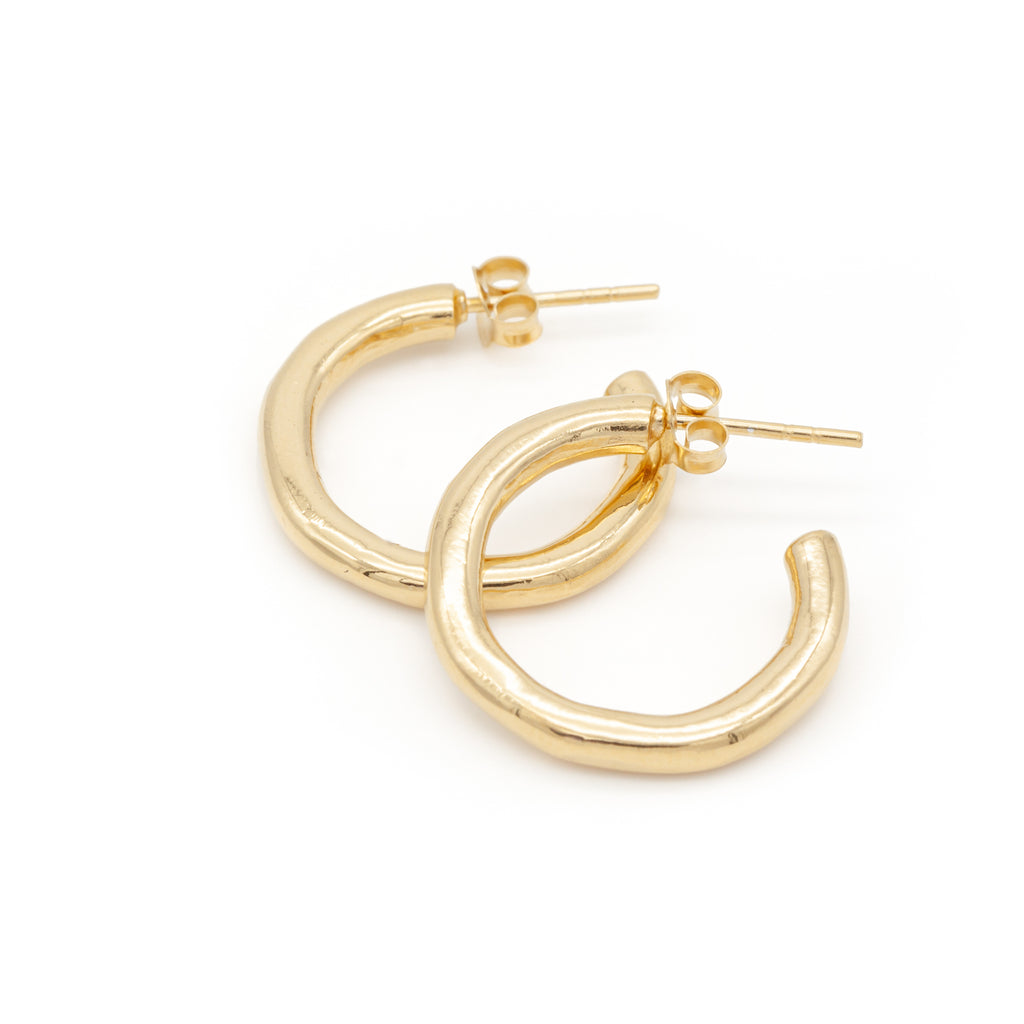Irregular Hoops Gold