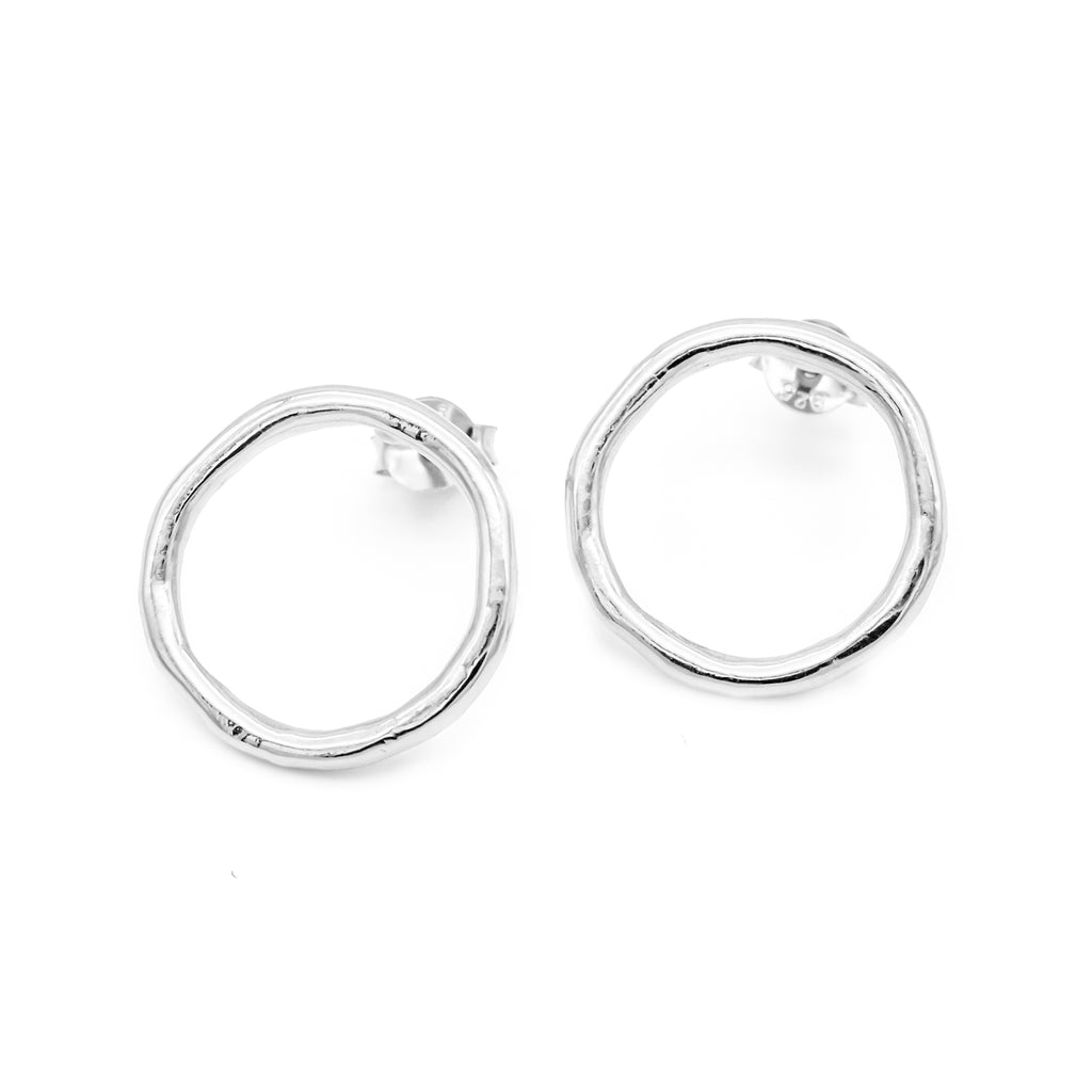 Irregular Earrings Silver
