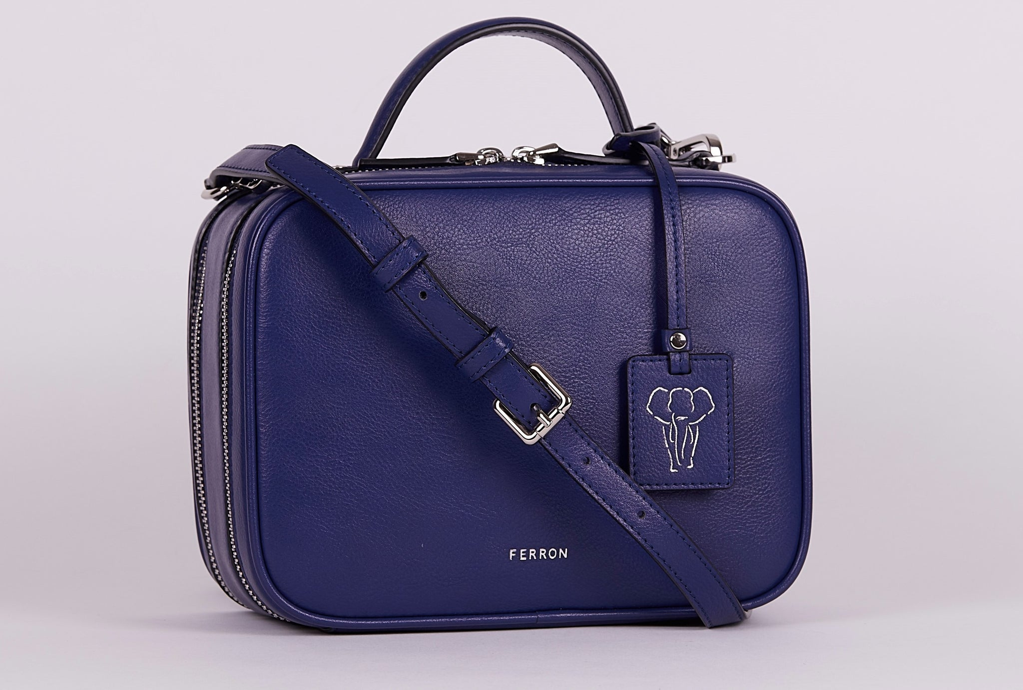 FERRON Vegan Signature Crossbody bag in blue