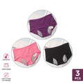 Girly Sales PeriodWear Panties (3-Pack) Pink Black Purple / S
