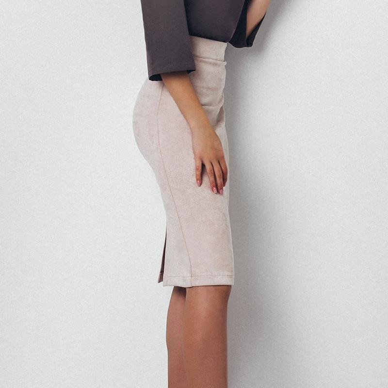 Girly Sales Suede Stretchy Skirt