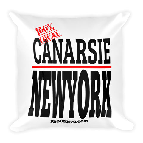 Canarsie Local Square Pillow