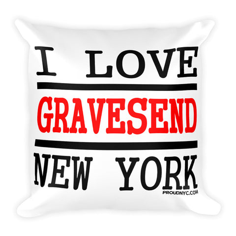 Gravesend Love Square Pillow