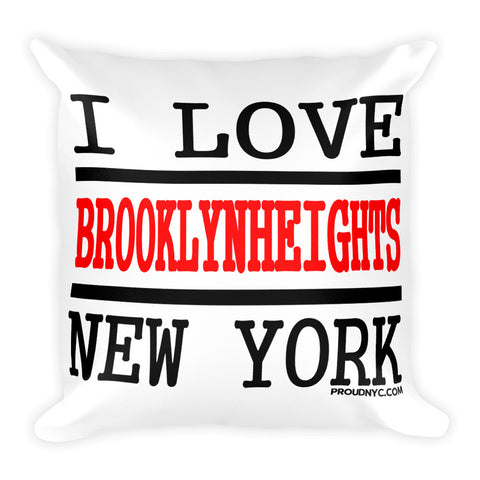 Brooklyn Heights Love Square Pillow