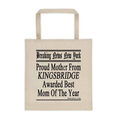 Kingsbridge Best Mom Tote bag