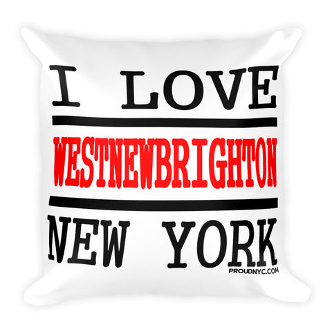 West New Brighton Love Square Pillow