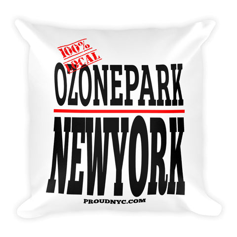 Ozone Park Local Square Pillow