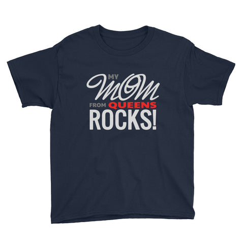 Queens Mom Rocks Youth Short Sleeve T-Shirt