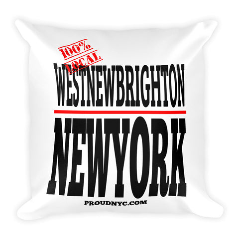 West New Brighton Local Square Pillow