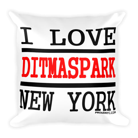 Ditmas Park Love Square Pillow